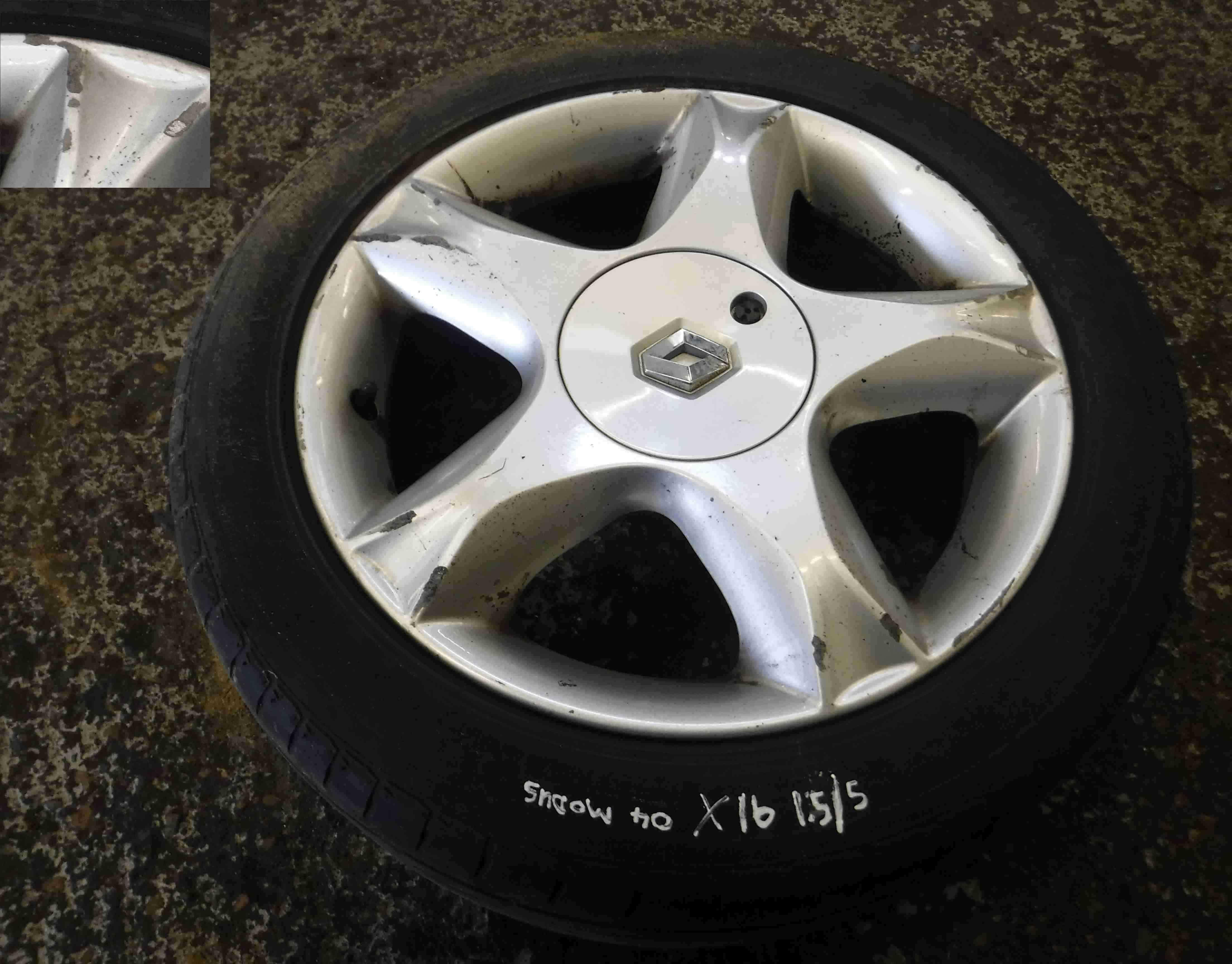 Renault Modus 2004-2008 Riveo Alloy Wheel 16 inch 3/5 8200232653