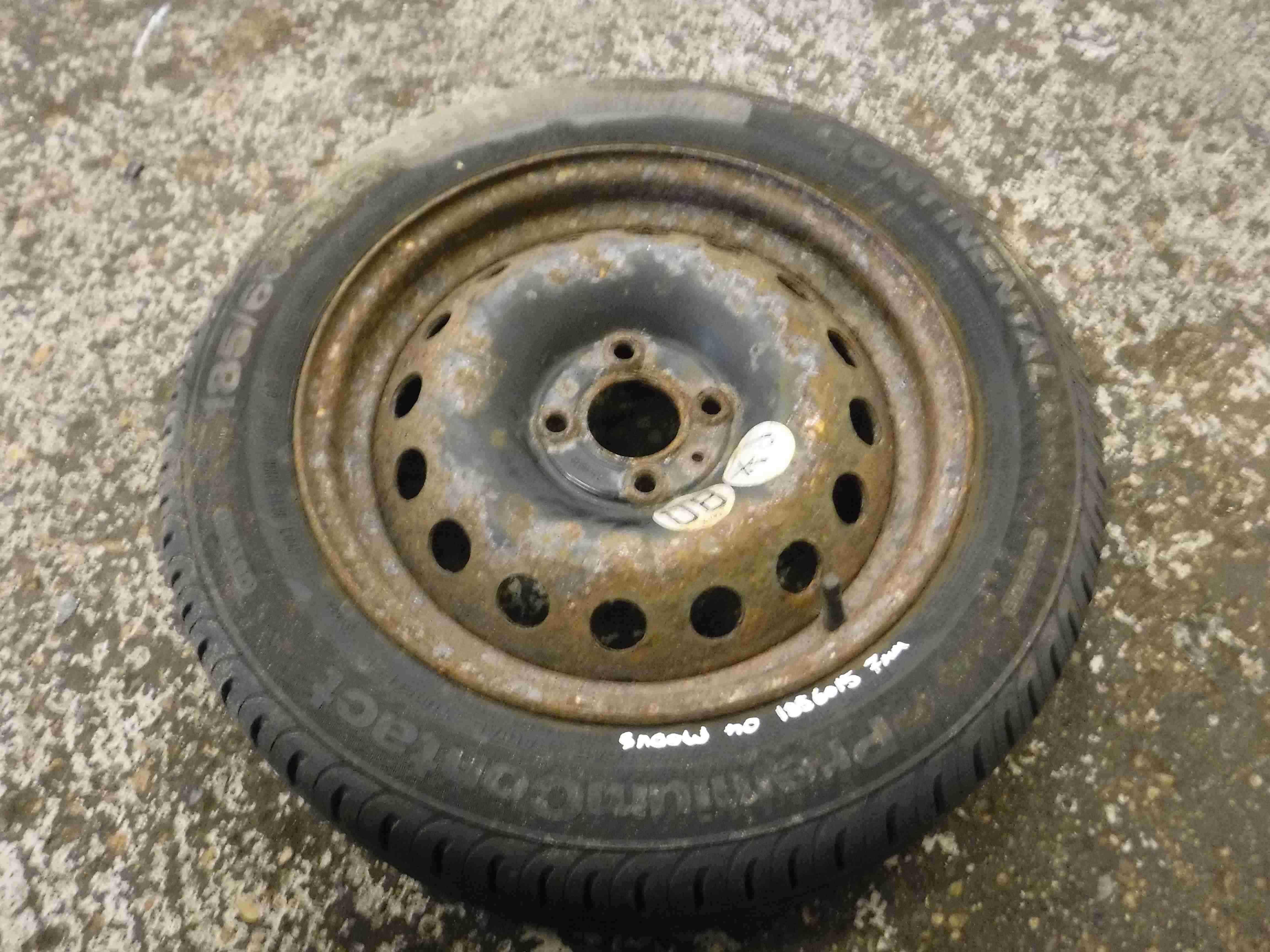 Renault Modus 2004-2008 Steel Wheel Rim + Tyre 185 60 15 7mm Tread 4/5