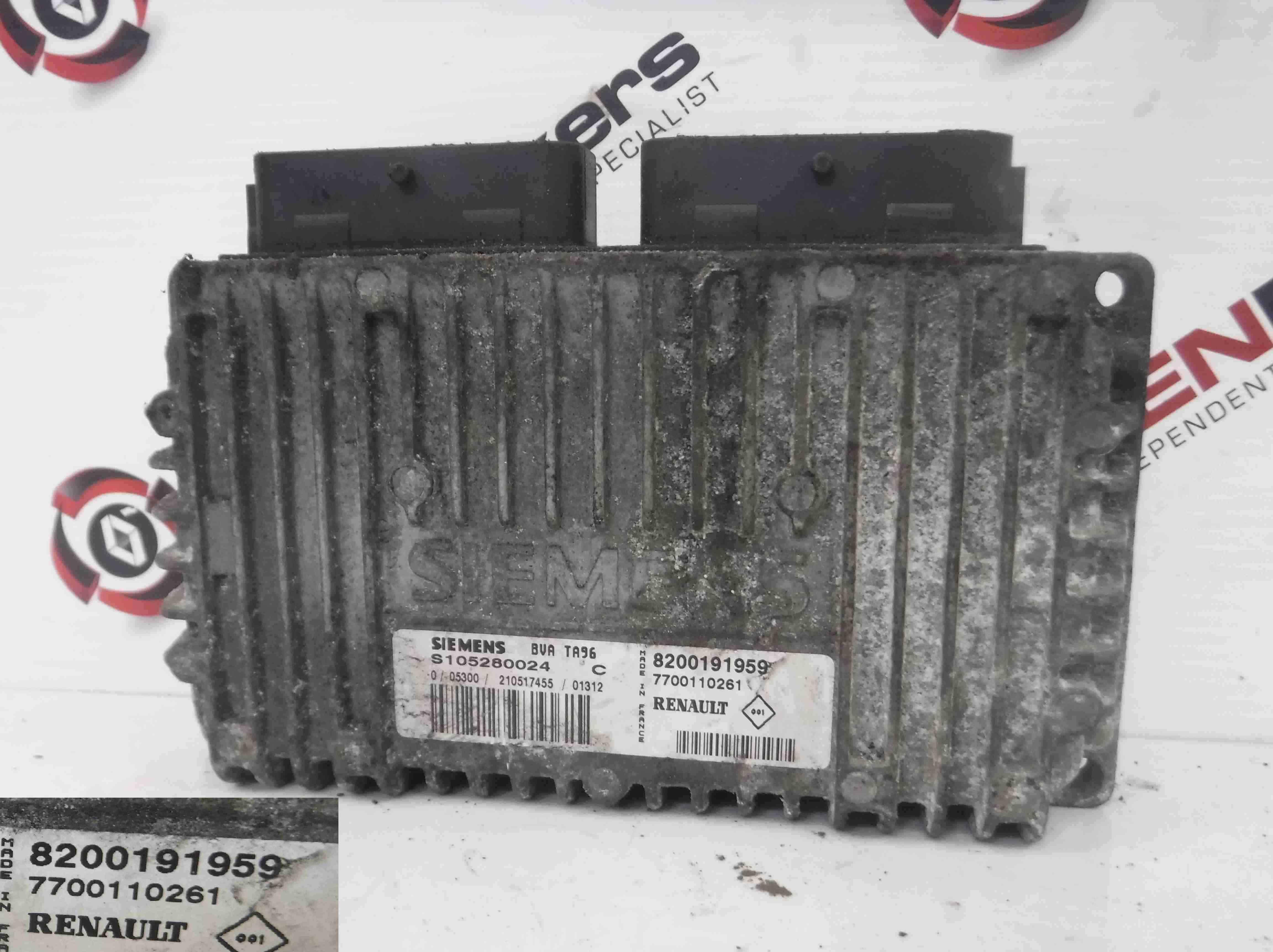 Renault Scenic 1999-2003 Automatic Gearbox ECU Computer 8200191959 7700110261
