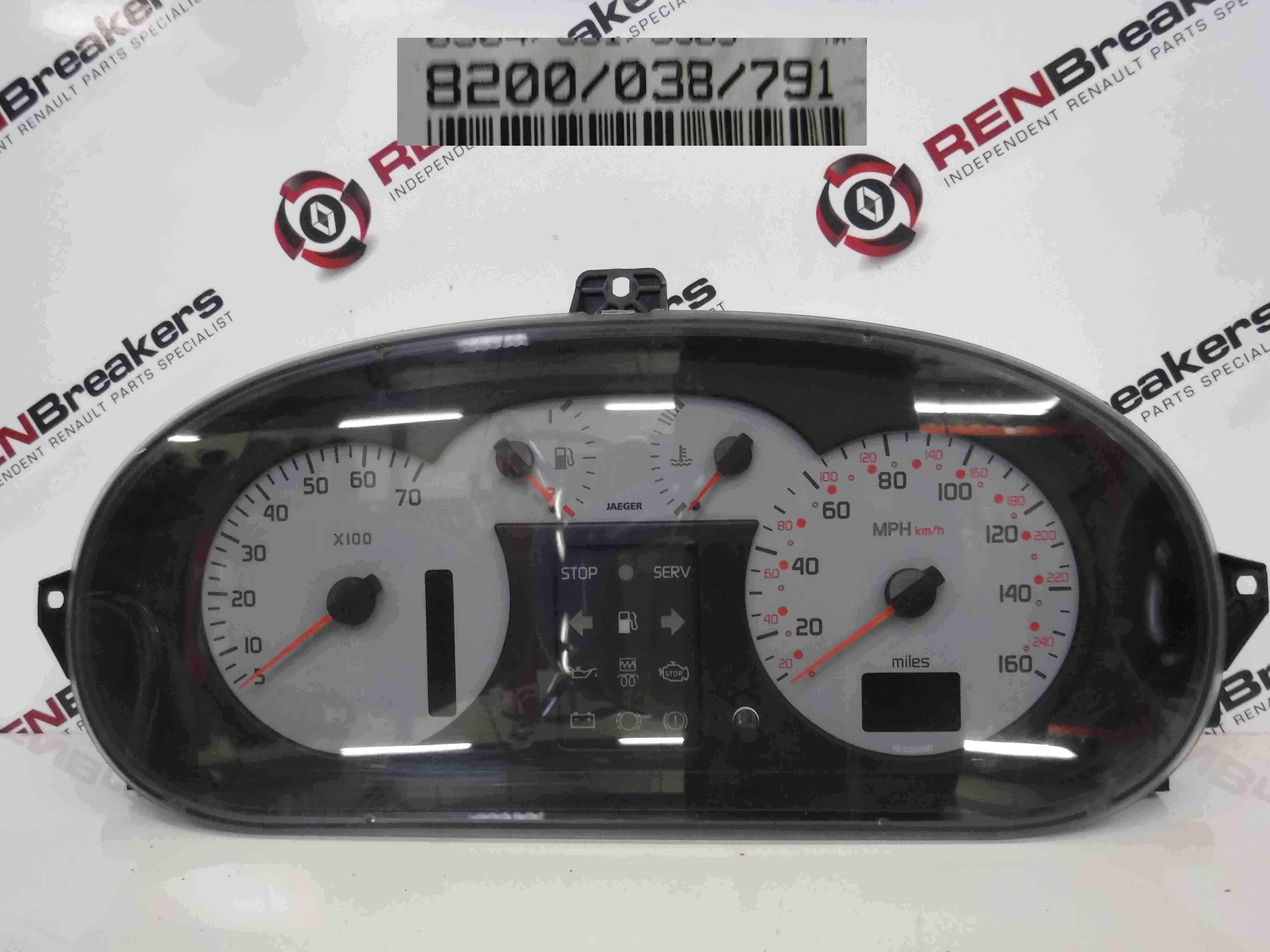 Renault Scenic 1999-2003 Instrument Panel Dials Gauges Clocks 8200038791