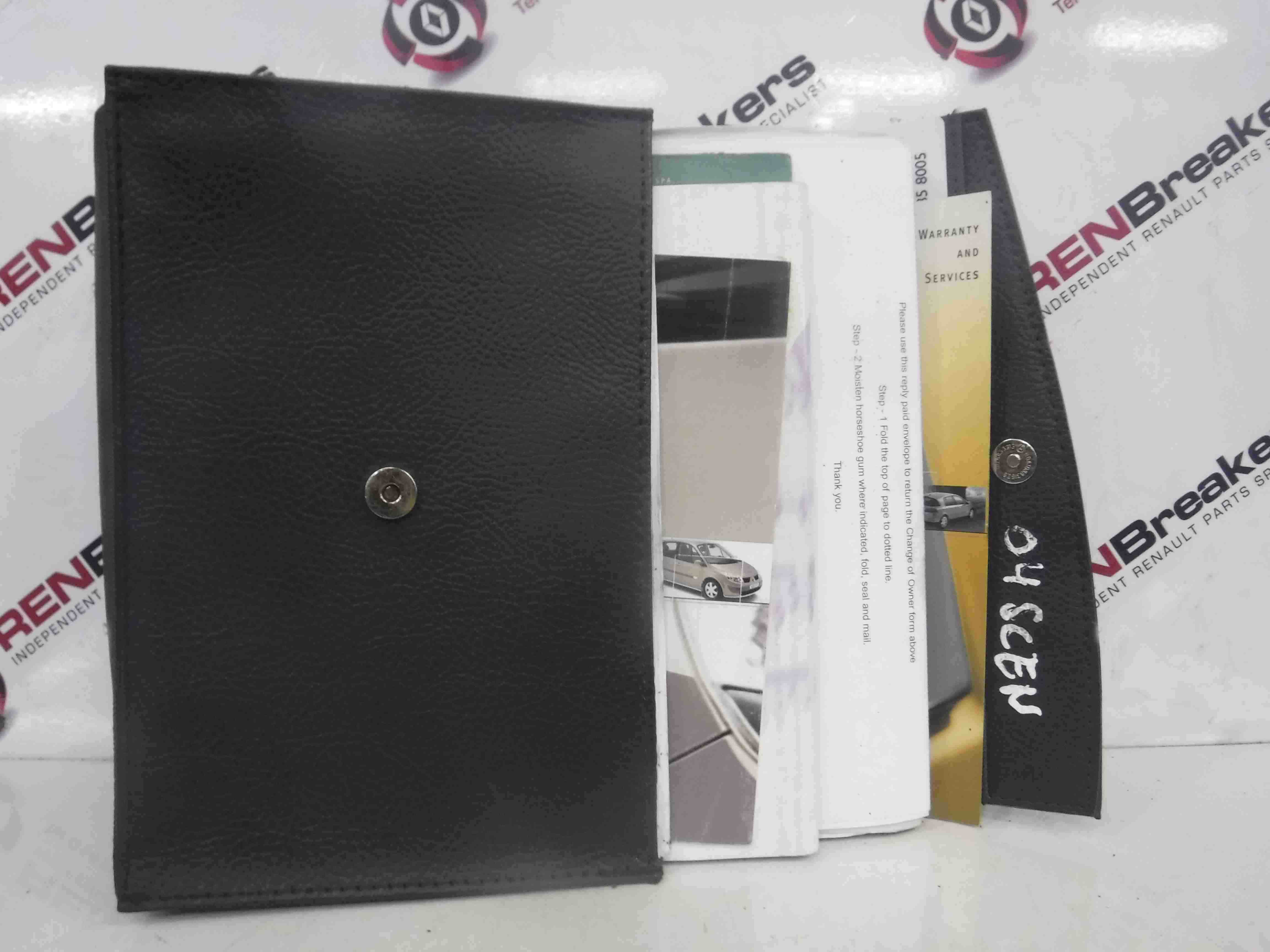 Renault Scenic 2003-2009 Documents + Holders Handbook Manual