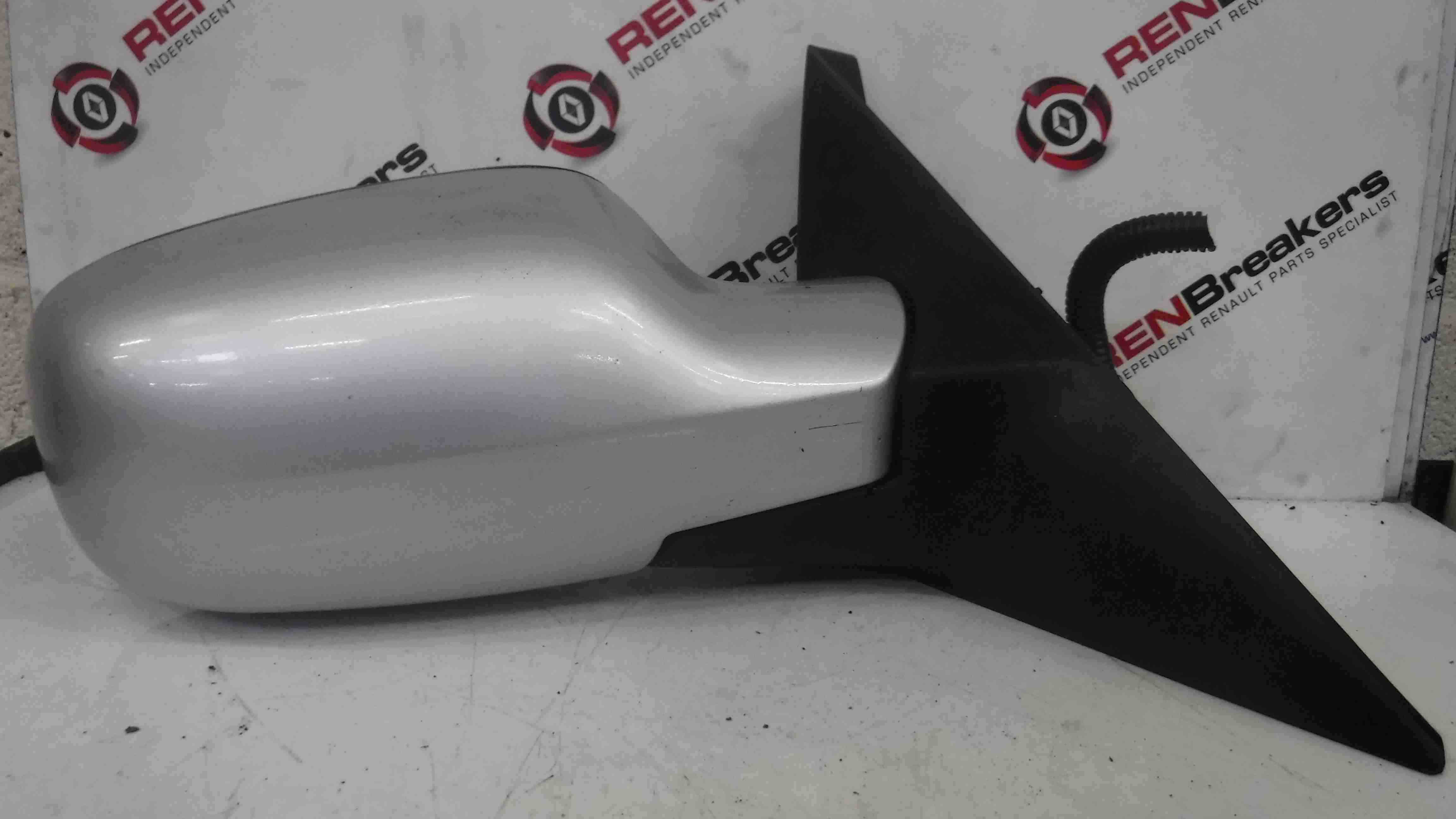 Renault Scenic 2003-2009 Drivers OS Wing Mirror Silver TED69 F