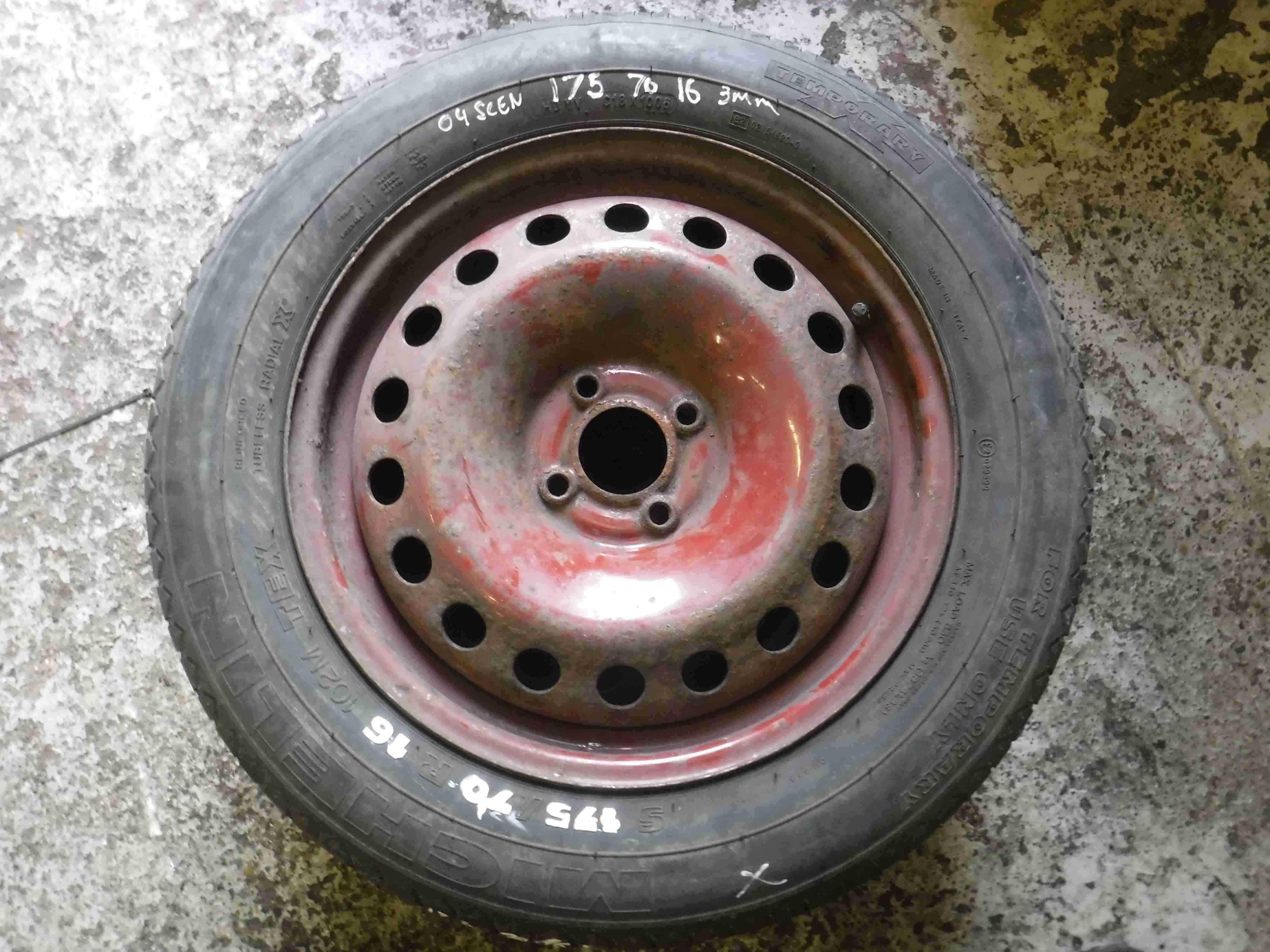 Renault Scenic 2003-2009 Space Saver Steel Wheel + Tyre 175 70 16 3mm