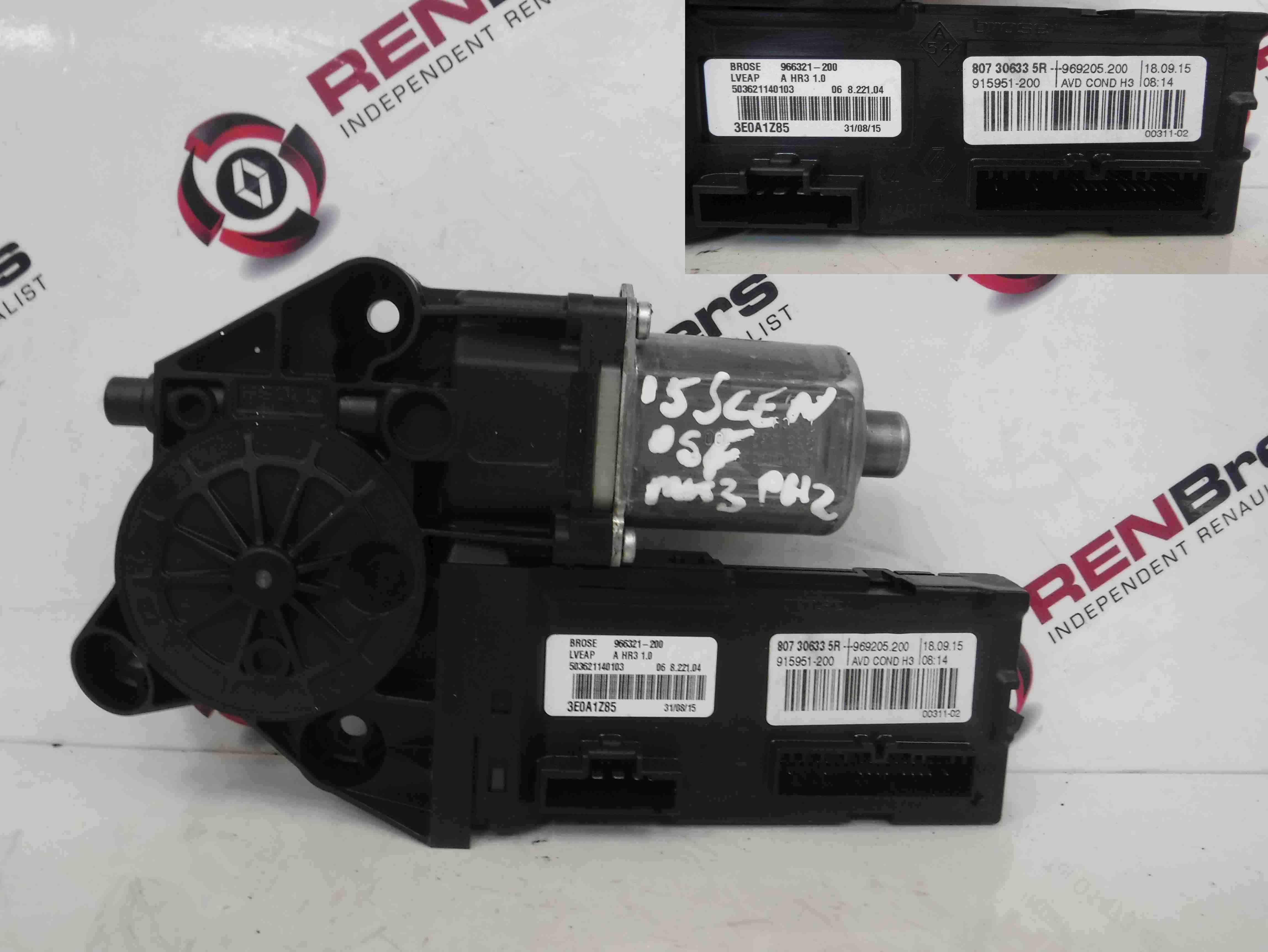 Renault Scenic MK3 2009-2016 Drivers OSF Front Window Motor 807306335R