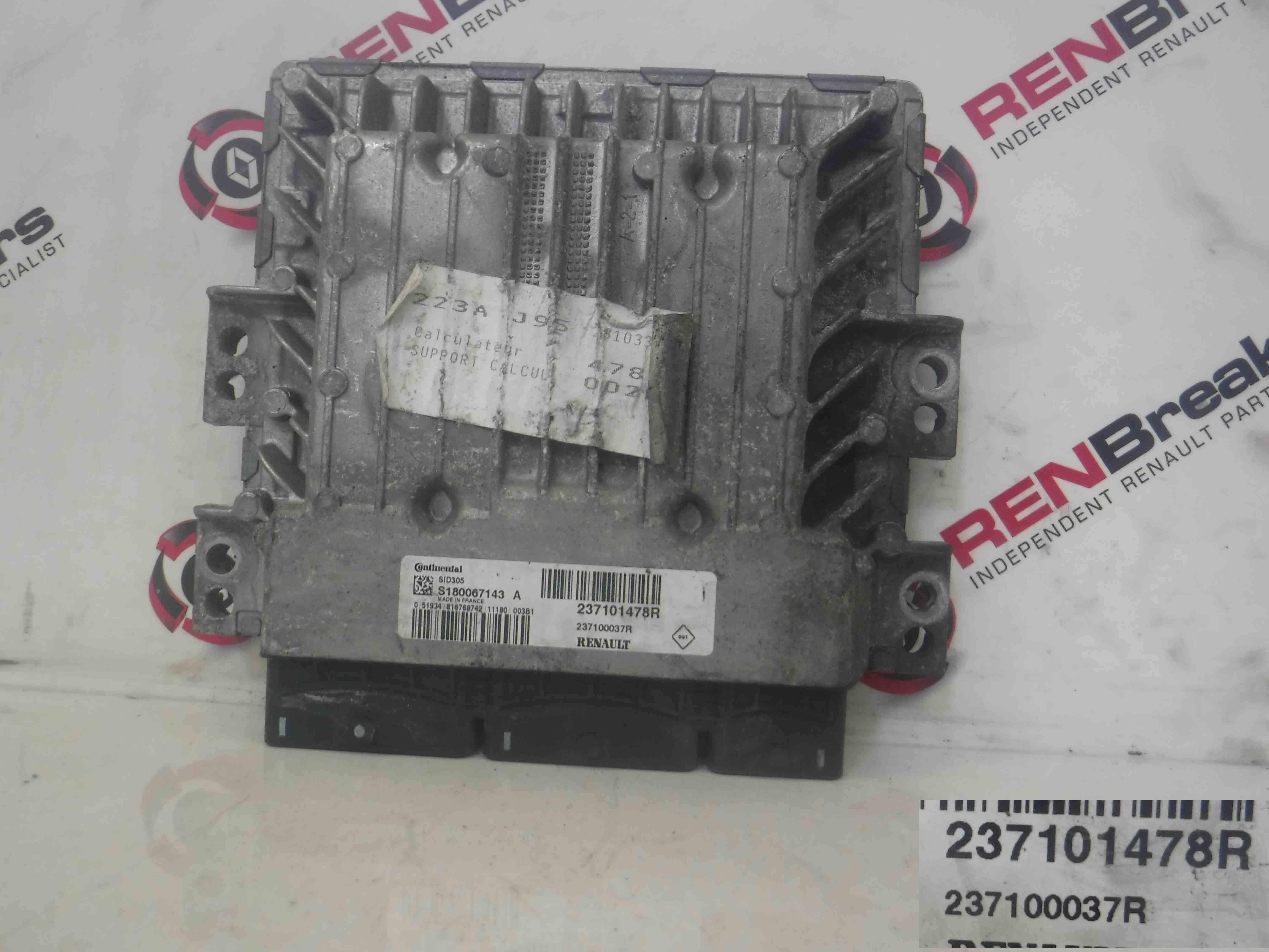 Renault Scenic MK3 2009-2016 Engine Control Unit ECU Computer 237101478R