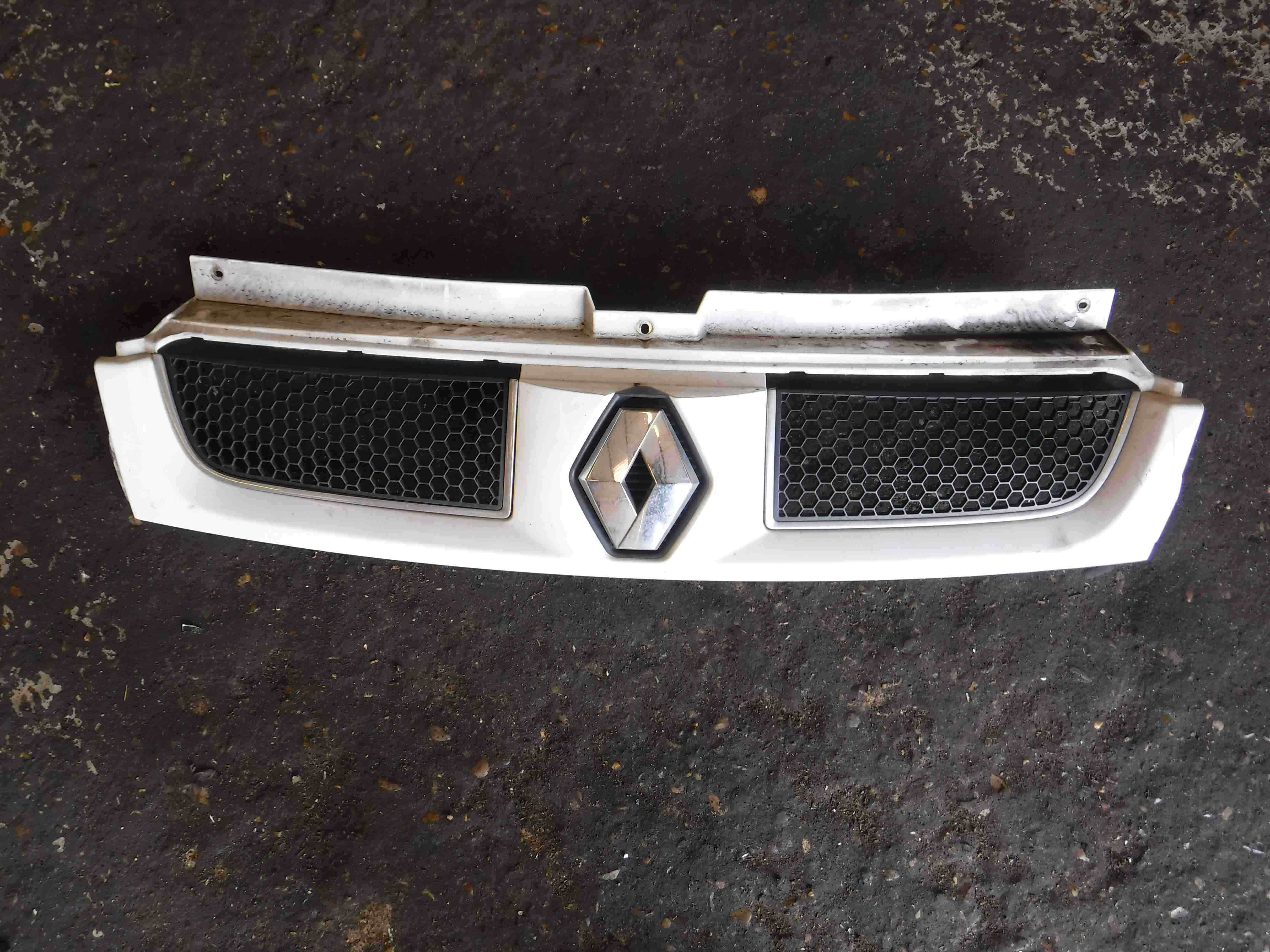 Renault Trafic 2001-2006 Front Bumper Grille Grill White OD31