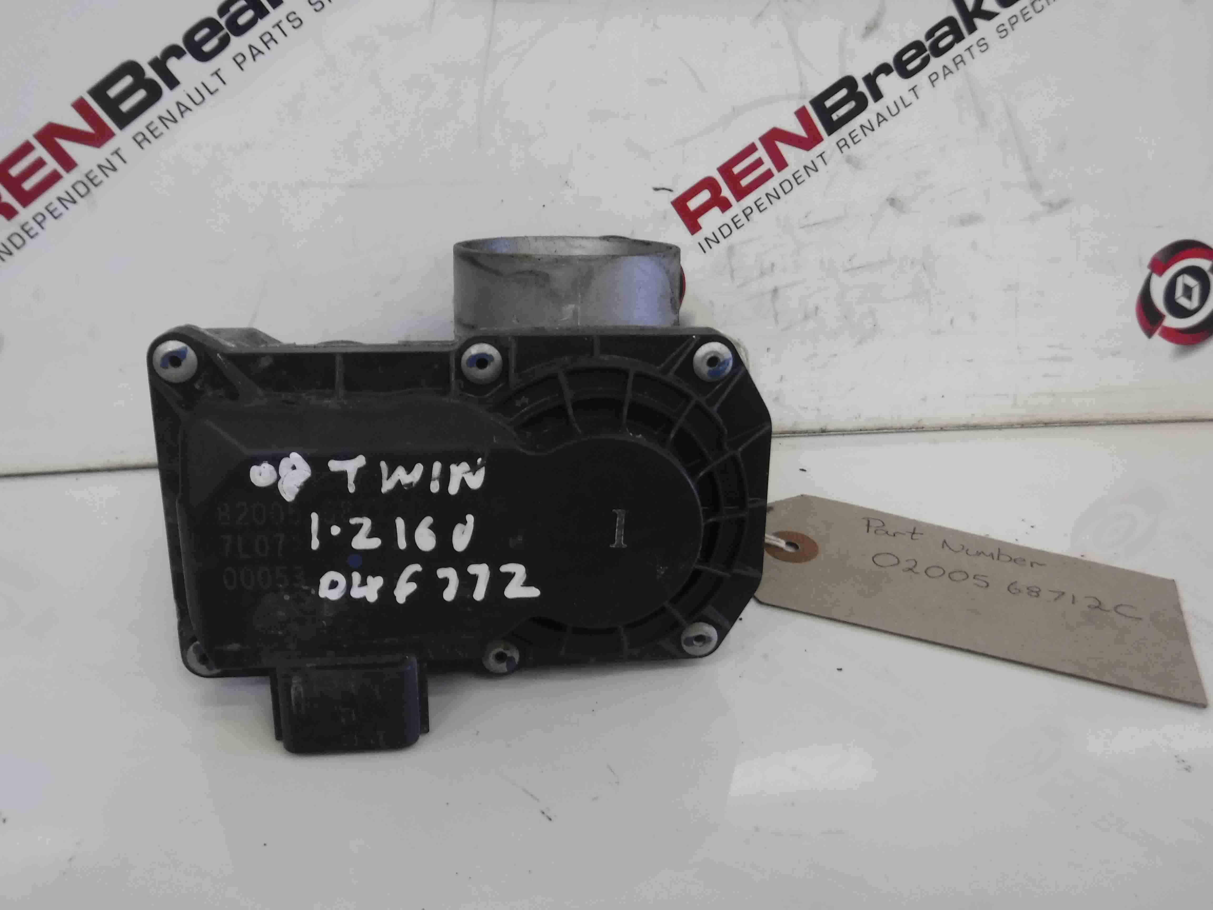 Renault Twingo 2007-2011 16v Throttle Body 8200568712 D4F 772 1.2