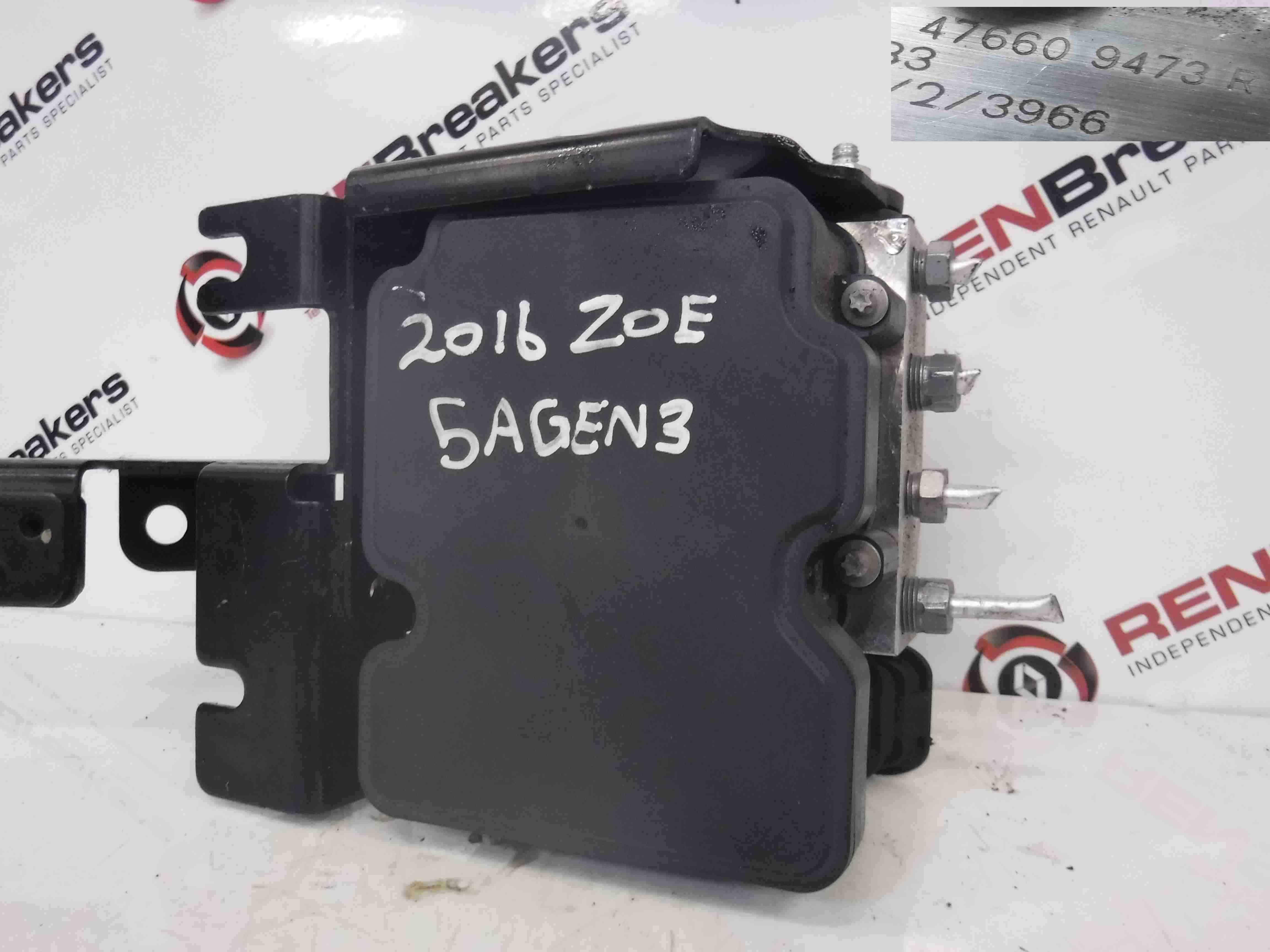 Renault Zoe 2012-2016 ABS Pump Unit 476609473R
