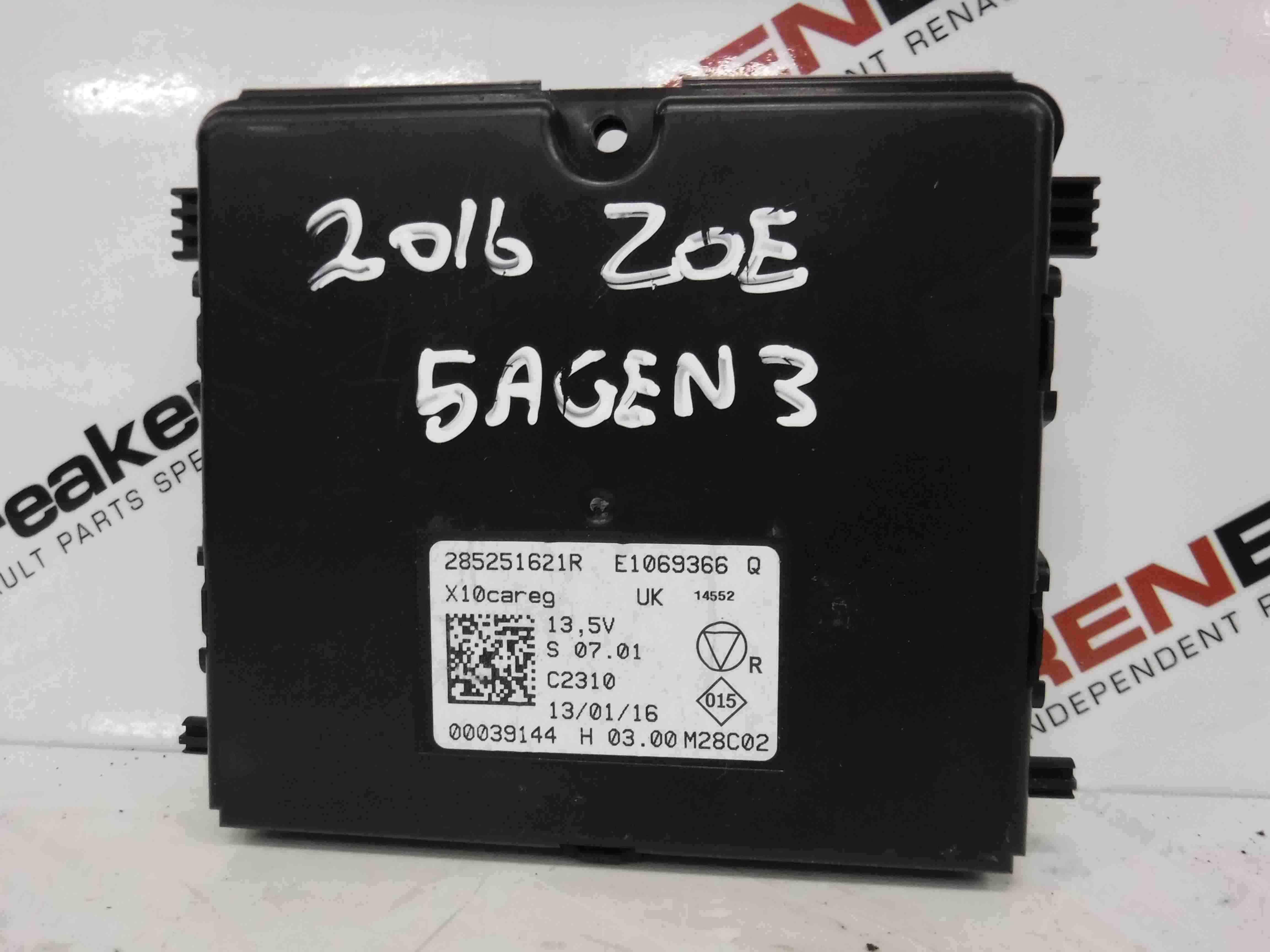 Renault Zoe 2012-2016 Air Conditioning ECU Module Climate 285251621R
