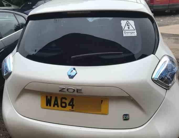 Renault Zoe 2012-2016 Rear Tailgate Boot White OV369