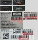 INSTANT* Renault Megane Scenic Twingo Clio Zoe CD Player UNLOCK CODE DECODE
