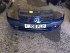 Renault Clio MK2 2001-2006 Front Bumper Blue TED44