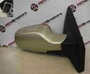 Renault Clio MK3 2005-2009 Drivers OS Wing Mirror Beige Gold TED11 Electric