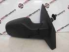 Renault Clio MK3 2005-2009 Drivers OS Wing Mirror Plain Black Manual