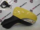 Renault Clio MK4 2013-2015 Passenger NS Wing Mirror Yellow OVENW 7 Pin