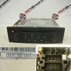 Renault Grand Scenic 2003-2009 CD Player Tuner List Black + Code 8200300858