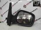 Renault Kangoo 2003-2007 Drivers OS Wing Mirror Plain Black Electric