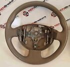 Renault Megane Convertible 2002-2008 Leather Beige Steering Wheel