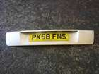 Renault Scenic 2006-2009 Rear Number Plate Holder Panel Trim Beige Silver TED11