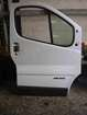 Renault Trafic 2001-2006 Drivers OSF Front Door White OD31